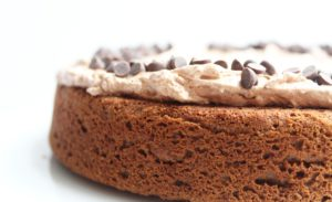 Gluten-Free Vanilla Cake With Chocolate Frosting