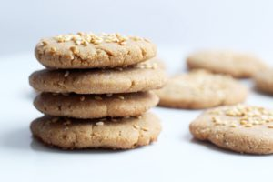 Easy, kid-friendly Tahini Cookies! Vegan, GF