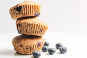 Healthy Gluten Free Blueberry Muffins