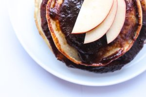 Gluten-Free Pancakes With Homemade Apple Jam