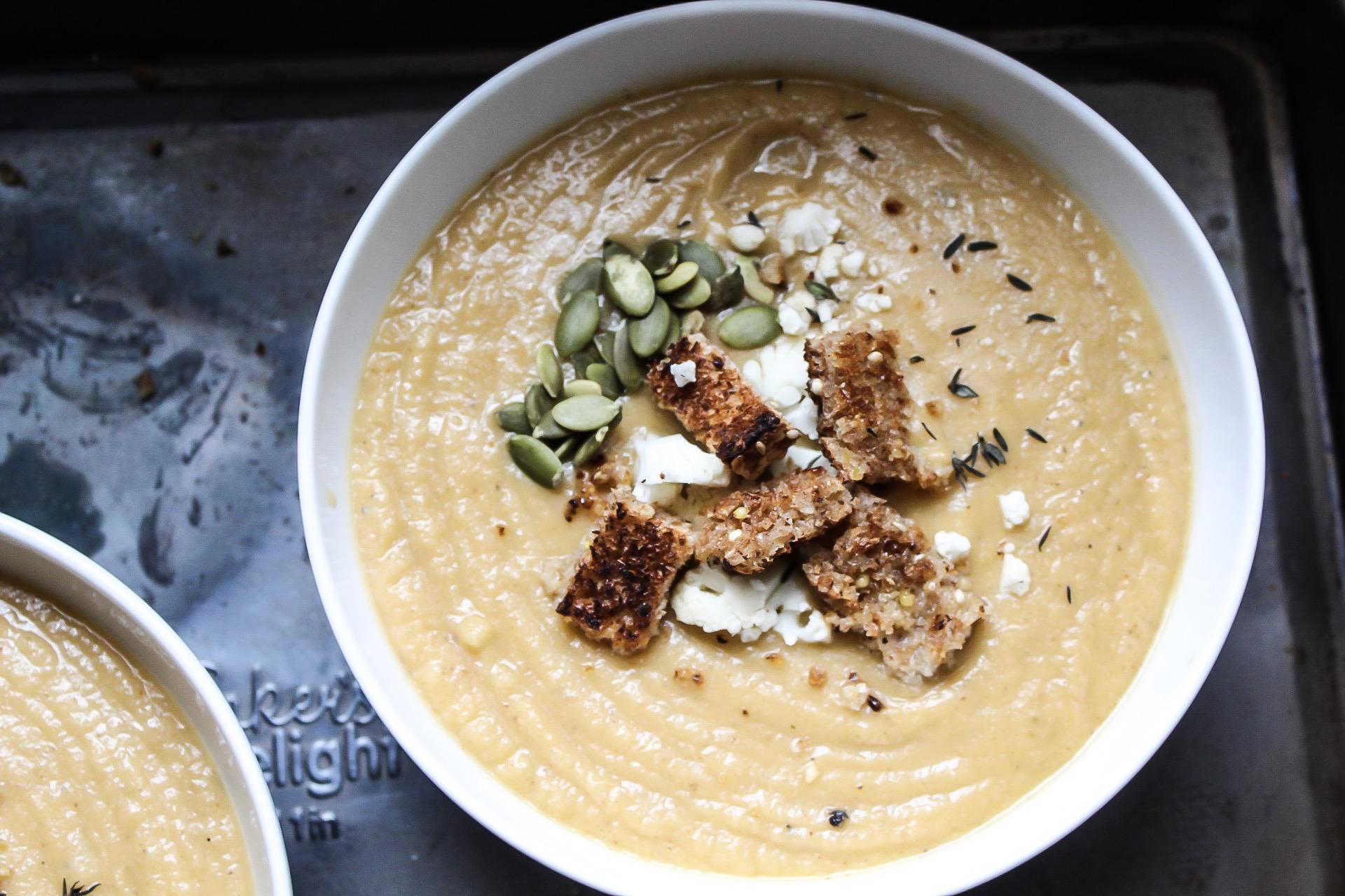 Gluten-Free, Dairy-Free Cauliflower Chowder