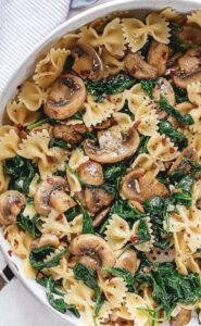 Mushroom and Spinach Pasta